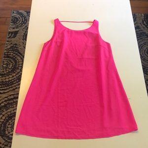 Neon Pink Shift Dress
